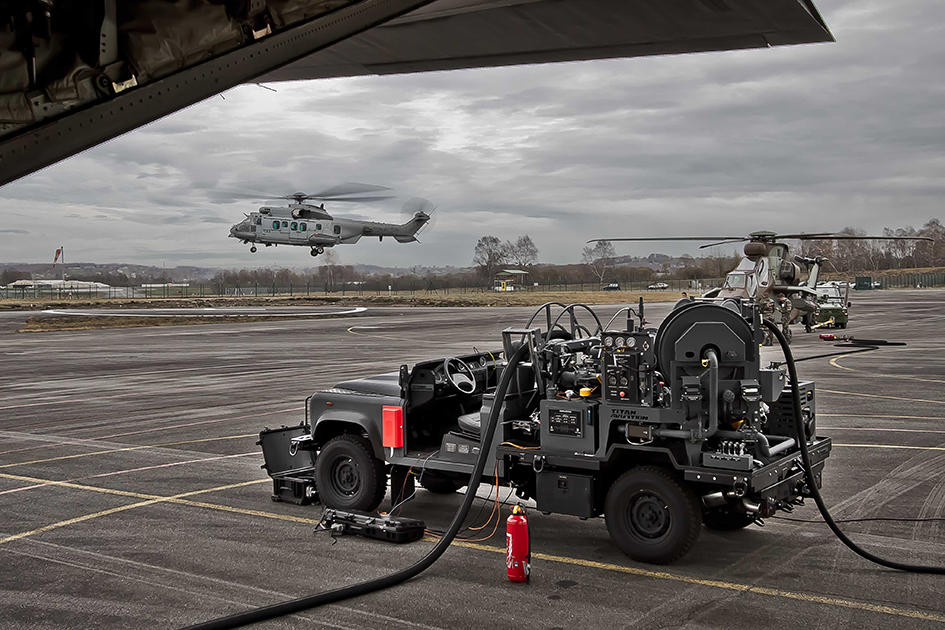 tactical hot refuelling vehicle